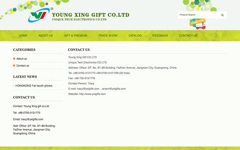 Screenshot of Contact Page yxlgifts.com - Young Xing Gift CO.LTD Contact us - captured Oct. 16, 2017