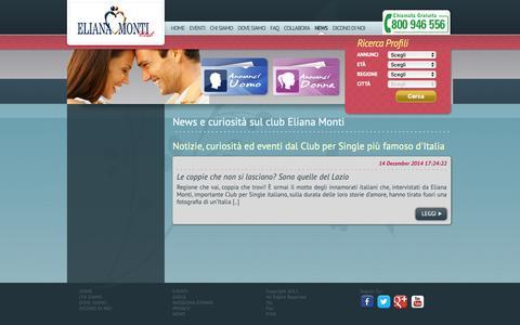 Screenshot of Press Page elianamonti.it - News e curiosità dal Club per single Eliana Monti. - captured Sept. 27, 2018