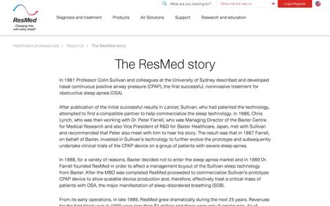 The ResMed story | ResMed