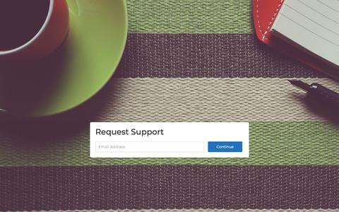 Screenshot of Support Page maineandmoss.com captured Oct. 2, 2018