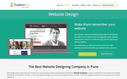 Screenshot of Services Page exploresys.com - Website Design Company in Pune, India | Web Development Company - captured May 23, 2017
