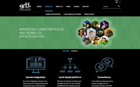 Screenshot of Products Page tomhorn.eu - Online casino, land based, games integration, consultancy  | Tom Horn Enterprise - captured Oct. 6, 2014