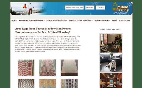 Screenshot of Press Page milfordflooring.com - News - Milford Flooring - captured Jan. 12, 2016