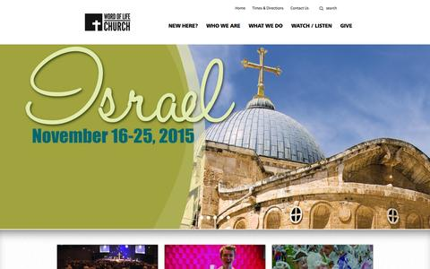 Screenshot of Home Page wolc.com - Word of Life Church - captured Sept. 4, 2015