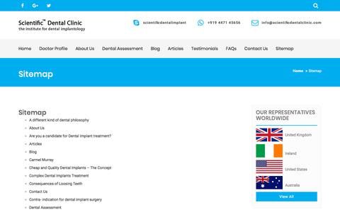 Screenshot of Site Map Page scientificdentalclinic.com - Sitemap - Scientific Dental Clinic - captured Sept. 23, 2018