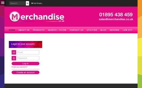 Screenshot of Login Page merchandise.co.uk - Merchandise Ltd - Merchandise Ltd - captured Nov. 21, 2017