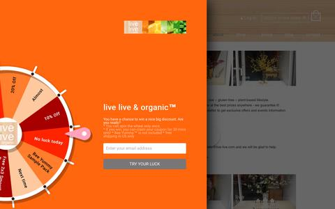 Screenshot of About Page live-live.com - About Us – live live & organic™ - captured July 6, 2018