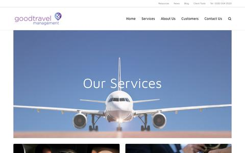Screenshot of Services Page good-travel.co.uk - Services - Good Travel Management - captured Aug. 29, 2017