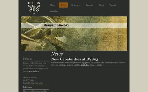 Screenshot of Press Page designstudio803.com - News - Design Studio 803 - captured Sept. 30, 2014