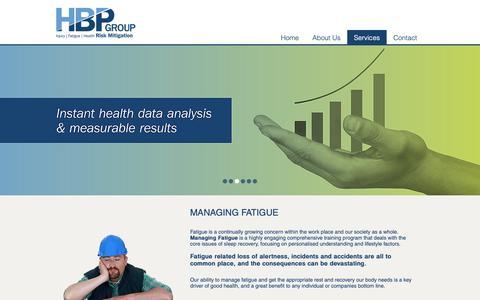Screenshot of Services Page hbpg.com.au - Services    HBP Group - captured Dec. 13, 2018