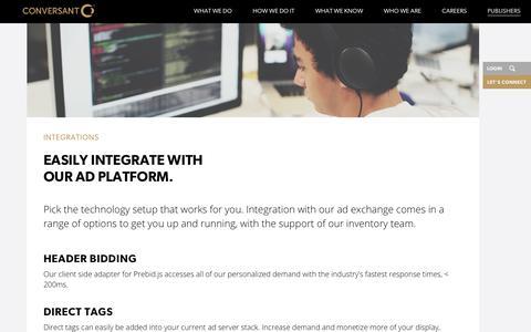 Integrations | Conversant