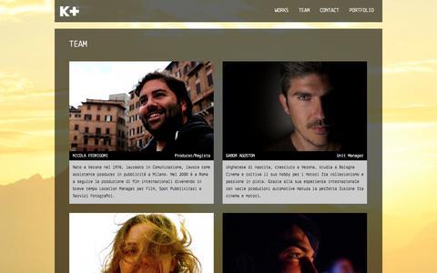 Screenshot of Team Page kplusfilm.com - TEAM | K+ The Plus Behind the Scene - captured Oct. 3, 2014