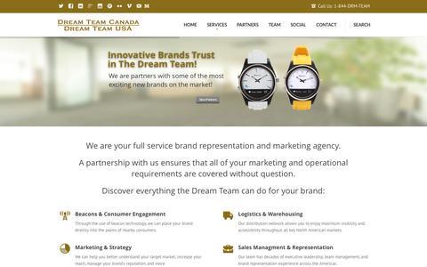 Screenshot of Services Page dreamteamamericas.com - Our Services | Dream Team Canada & USA - captured Sept. 25, 2015