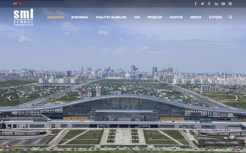 Screenshot of Home Page sembolinsaat.com.tr - SML - Sembol İnşaat - Sembol Construction - captured Oct. 18, 2018