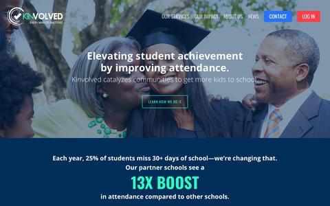 Screenshot of Home Page kinvolved.com - Kinvolved – Every Minute Matters! - captured Jan. 14, 2018