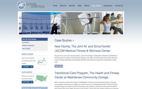 Screenshot of Case Studies Page powerwellness.com - Case Studies Archives « Power Wellness - captured Sept. 30, 2014