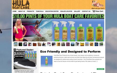 Screenshot of Home Page hulaboatcare.com captured Sept. 30, 2014