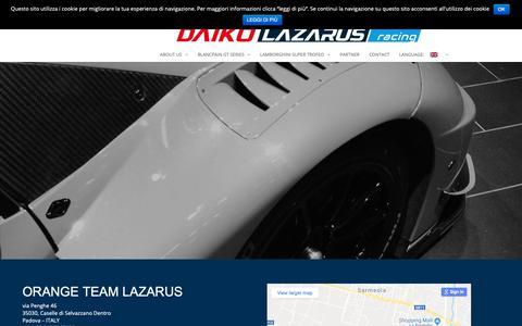 Screenshot of Contact Page teamlazarus.it - Contatti - Team Lazarus - captured Oct. 26, 2018