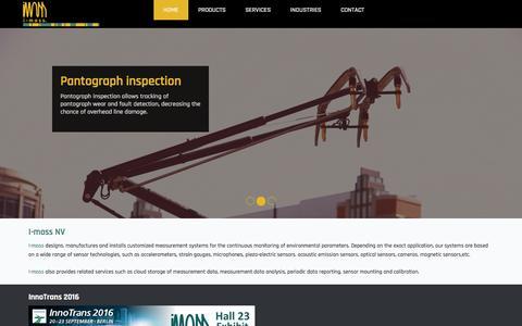 Screenshot of Home Page i-moss.com - I-moss | I-moss NV - captured Nov. 17, 2016