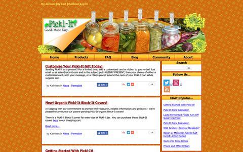 Screenshot of Press Page pickl-it.com - News — Blog | Pickl-It - captured Oct. 19, 2018