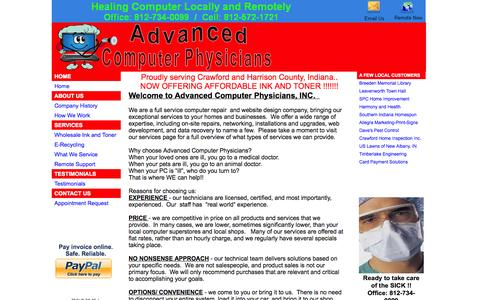 Screenshot of Home Page subduedsoftware.com - Computer Repair- Advanced Computer Physicians - captured Sept. 30, 2014