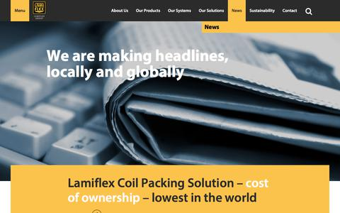Screenshot of Press Page lamiflex.com - Lamiflex – Packaging solution for heavy industry » News - captured July 13, 2017
