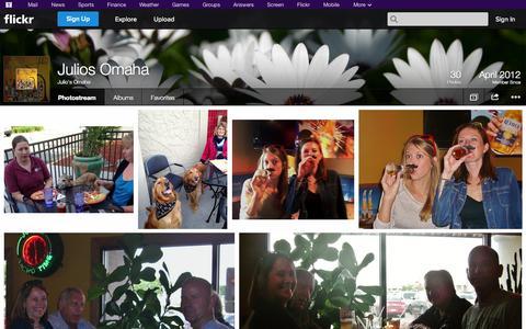 Screenshot of Flickr Page flickr.com - Flickr: Julio's Omaha's Photostream - captured Oct. 23, 2014