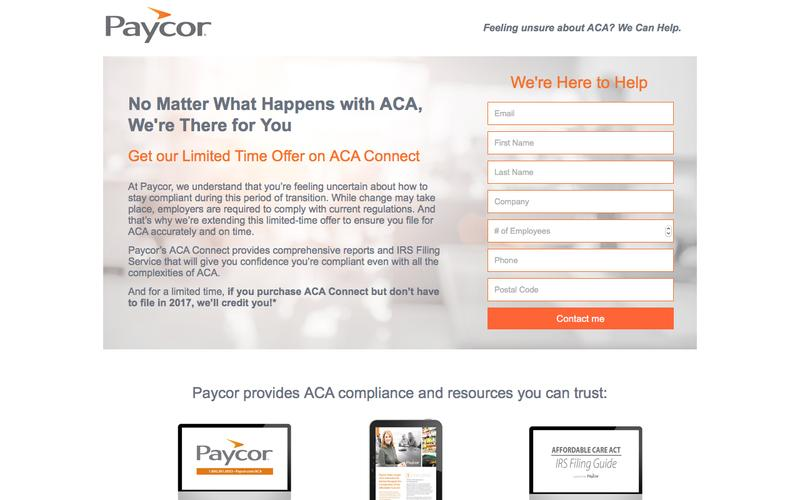Limited-time ACA Offer - We Can Help | Paycor
