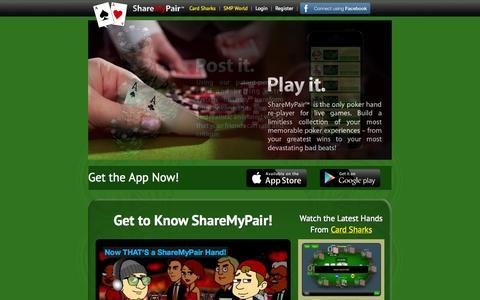 Screenshot of Home Page sharemypair.com - ShareMyPair - captured Sept. 24, 2014