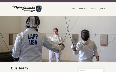Screenshot of Team Page wordpress.com - Our Team - captured July 3, 2018