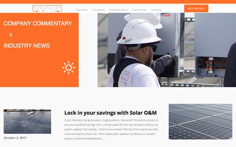 Screenshot of Blog sunvalleysolarinc.com - Blog | Sunvalley Solar - captured Nov. 5, 2017