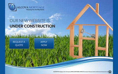 Screenshot of Home Page alcovamortgage.com - ALCOVA UNDER CONSTRUCTION - captured March 17, 2016