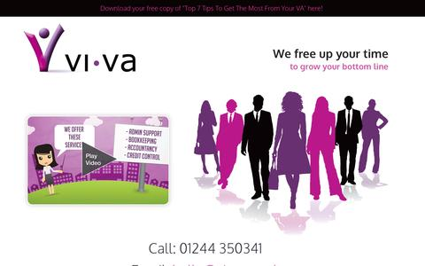 Screenshot of Home Page vi-va.co.uk - Virtual Assistant | Chester | North West | Vi-VA - captured Oct. 9, 2014