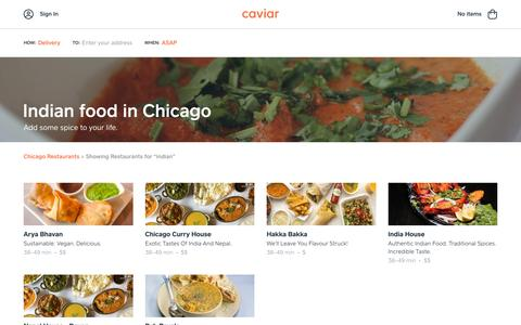 Indian food in Chicago | Caviar