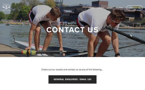 Screenshot of Contact Page warwickrowing.org - Contact Us — University of Warwick Boat Club - captured Sept. 24, 2018