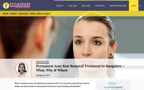 Permanent Acne Scar Removal Treatment In Bangalore - What, Why & Where