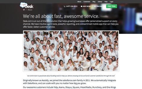 Screenshot of About Page desk.com - About Desk.com - captured Sept. 15, 2014