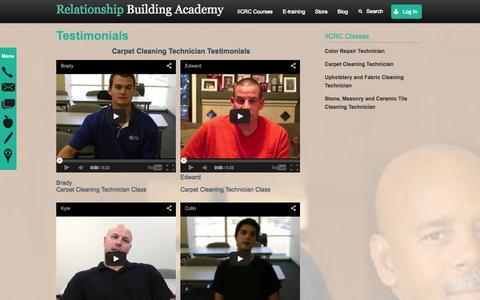 Screenshot of Testimonials Page relationshipbuildingacademy.com - Testimonials - captured Oct. 7, 2014