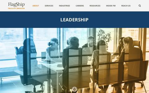 Screenshot of Team Page flagshipinc.com - Meet the Leadership Team | Flagship Facility Services - captured Feb. 17, 2019