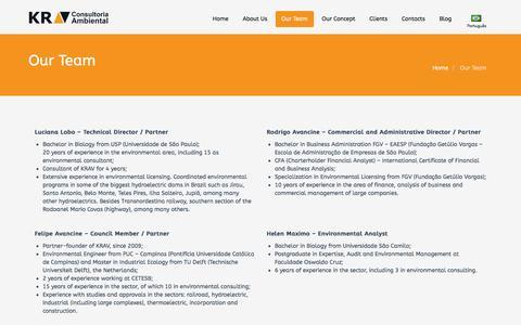 Screenshot of Team Page kravconsultoria.com.br - Our Team   KRAV Consultoria - captured Oct. 16, 2017