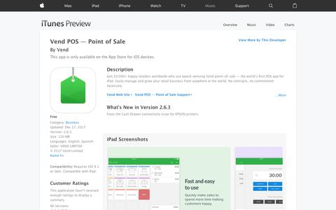Vend POS — Point of Sale on the App Store