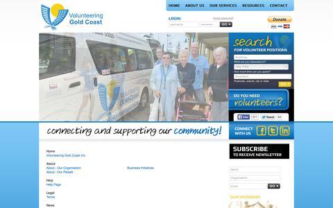 Screenshot of Site Map Page volunteeringgc.org.au - Sitemap  - Volunteering Gold Coast Inc. - captured Oct. 26, 2014