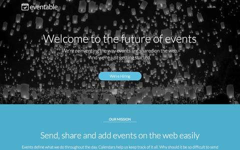 Screenshot of About Page eventable.com - Our Company | Eventable - captured Sept. 30, 2014