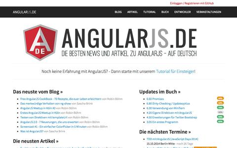 Screenshot of Home Page angularjs.de - AngularJS.DE → Das deutsche Portal zu AngularJS - captured Sept. 19, 2014