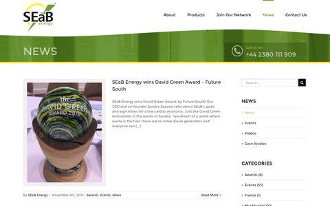 Screenshot of Press Page seabenergy.com - News – SEAB Energy - captured Nov. 17, 2016