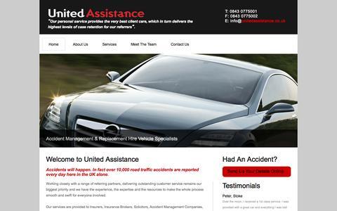 Screenshot of Home Page unitedassistance.co.uk - United Assistance - captured Oct. 9, 2014