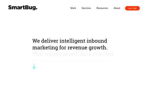 Screenshot of Home Page smartbugmedia.com - SmartBug Media | Inbound Marketing Agency | Digital Strategy & PR - captured March 31, 2018