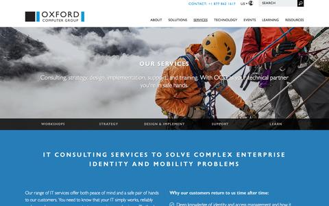 Screenshot of Services Page oxfordcomputergroup.com - Managed Services and IT Support Services | Oxford Computer Group - US - captured Aug. 14, 2016