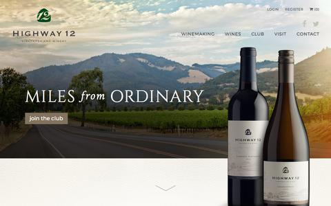 Screenshot of Home Page highway12winery.com - Home Page - Highway 12 Winery & Vineyards - captured Aug. 13, 2017