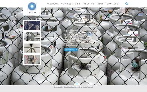 Screenshot of Home Page ggsoman.com - Global Gas - captured Sept. 19, 2015